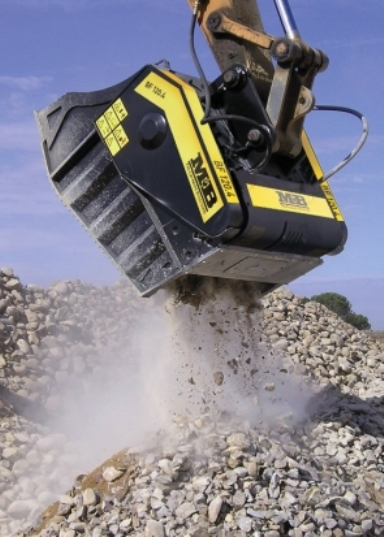 MB Meccanica Breganzese - world leader in the production of jaw-action bucket crushers from EMS Embankment Machinery Sales in Dublin Ireland